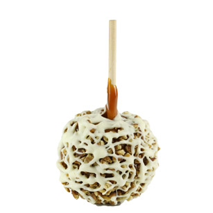 Caramel Apple With Pecans and White Chocolate