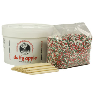 Caramel Apple Kit with Holiday Sprinkles
