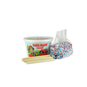 Caramel Apple Kit with 4th of July Sprinkles