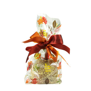 Fall Leaves Cellophane Bag - 100 Pack