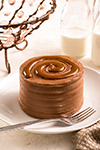 Chocolate Cake with Caramel Swirl