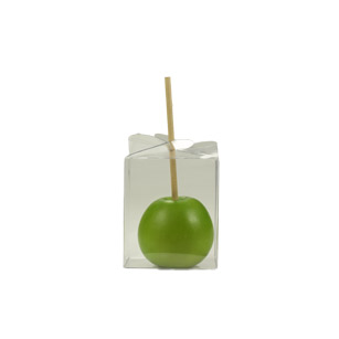 Clear Caramel Apple Boxes